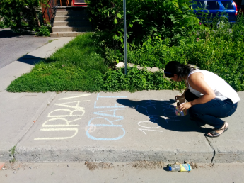 Urban Craft Market Ottawa Stephanie Ko Sidewalk Chalk Lettering