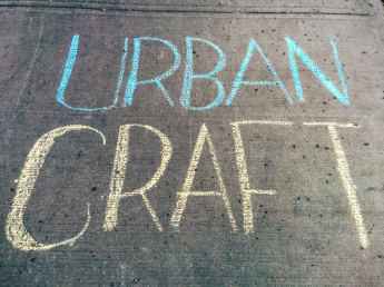 Urban Craft Market Ottawa Sidewalk Chalk Lettering