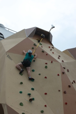 Rock Climbing on Royal Caribbean's Quantum of the Seas Cruise Ship